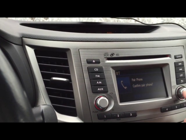 Subaru Outback - Bluetooth Activation