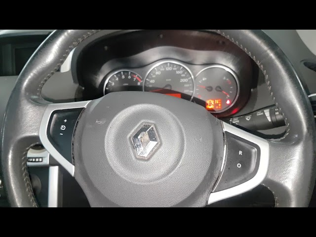 Renault Koleos service reset oil change reset checking oil level via instrument cluster